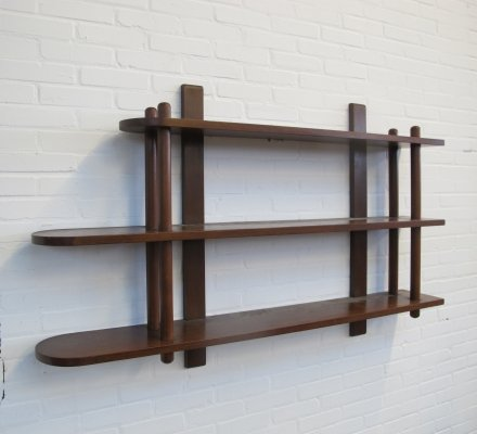 Vintage sticks Wall unit / wall bookcase, 1960s