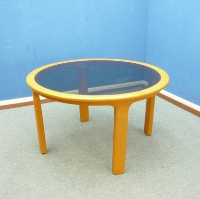 Leather Dining Table from Poltrona Frau, 1970s