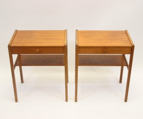 Pair of Vintage teak Scandinavian bedside tables, 1960s