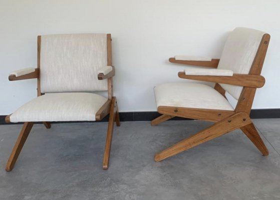 Pair of armchairs by Lina Bo Bardi, 1950's