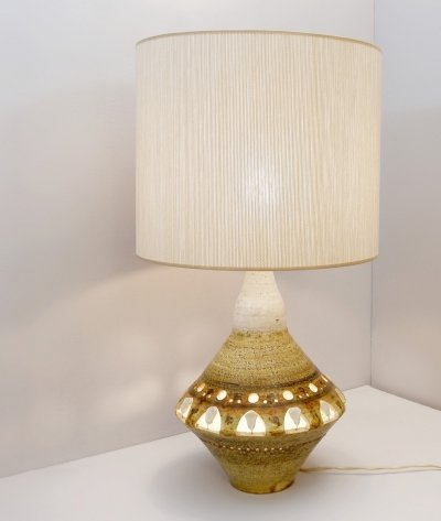 Georges Pelletier Ceramic Table Lamp, France Circa 1970