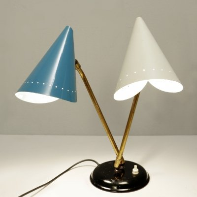 Dual Cone Table Lamp, 1950s