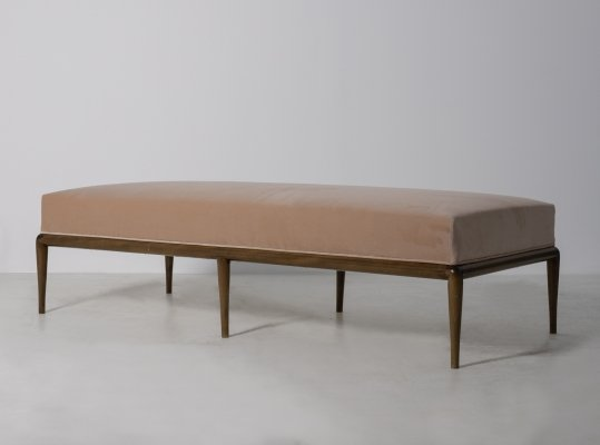 T.H. Robsjohn-Gibbings Daybed in pink fabric, 1950s