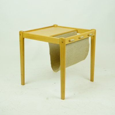 Danish Modern Magazine Rack Table by Brdr Furbo, Denmark 1960s