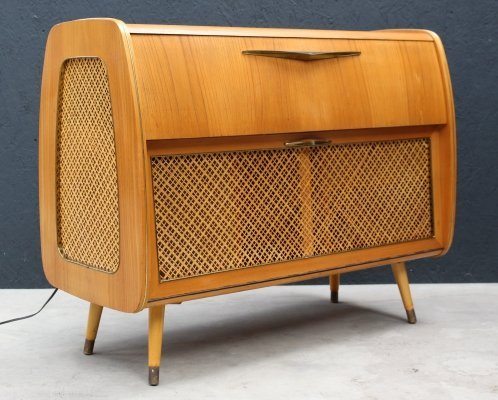 Cabinet with record player & radio, 1950s