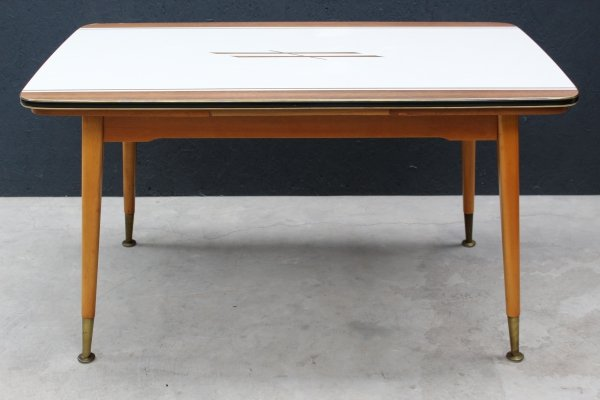 Extendable & height adjustable dining table, 1950s