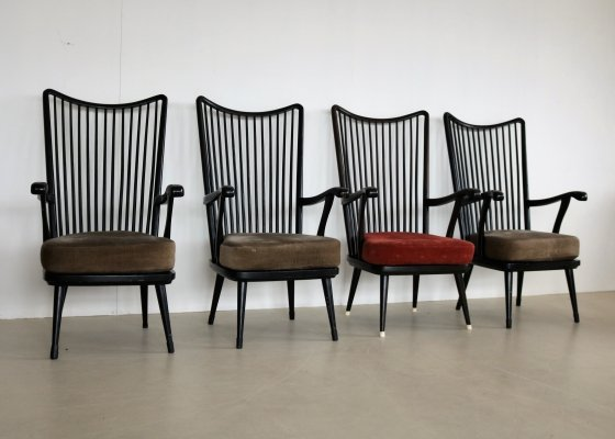 4 x vintage arm chair, 1960s
