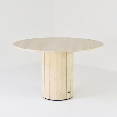 Travertine dining table by Jean Charles, Belgium 1970's