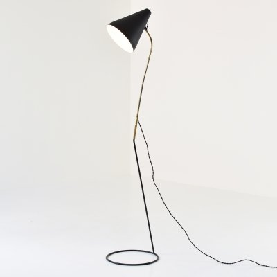 Elegant floor lamp from France, 1950's
