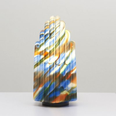 Large Table Lamp in Marbled Glass, 1980's