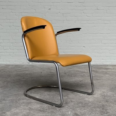 Gispen 413 Lounge Chair by W.H. Gispen, Netherlands 1950s