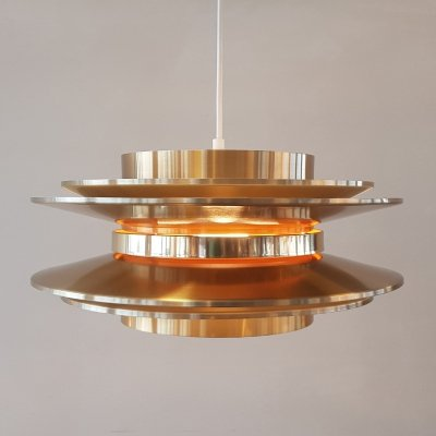 Swedish brass hanging lamp by Carl Thore for Granhaga, 1960s