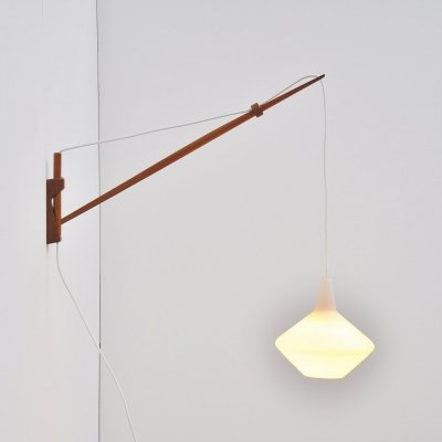 Lisa Johansson Pape arc wall lamp, Finland 1954