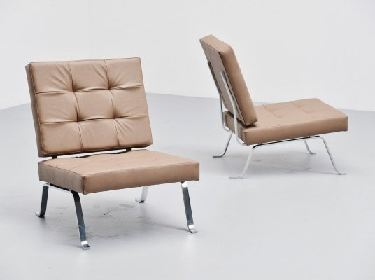 Hein Salomonson for AP Originals lounge chairs, Holland 1960
