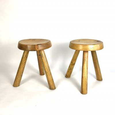 1960s Stools by Charlotte Perriand from Résidence 'Les Lauzières' Les Arcs 1800