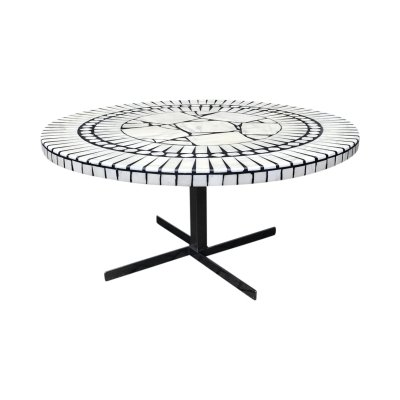 Round Carara Marble Mosaic Coffee Table by Heinz Lilienthal, 1970s