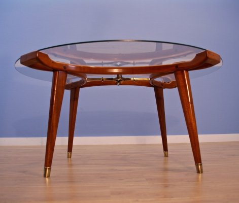 Dutch coffee table 'Acrilon' in walnut by William Watting for Fristho, 1950s