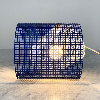 Wire Metal Table Lamp, 1980s