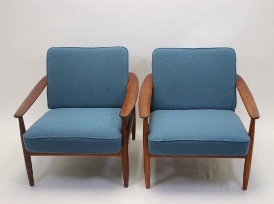 Pair of Handmade armchairs by Hans Olsen, Denmark 1960s