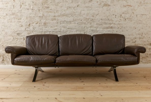 Vintage Leather Sofa by De Sede, Switzerland 1970s