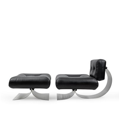 Lounge Chair & ottoman by Oscar Niemeyer for Mobilier International, 1970s