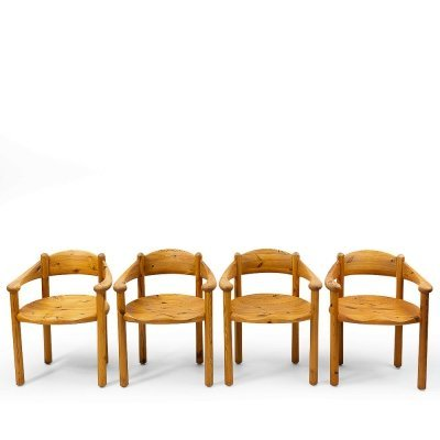 Pinewood Carver Chairs by Rainer Daumiller, 1970s