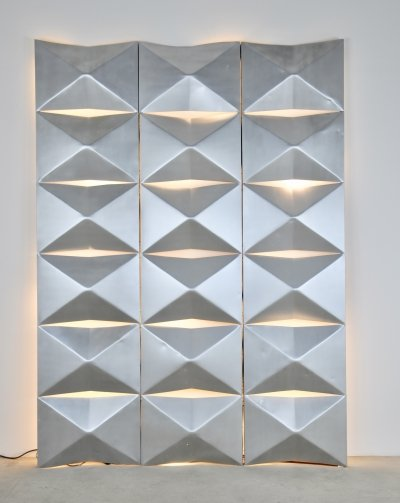 Aluminium Modular Wall Mounted Light Panels 1960s