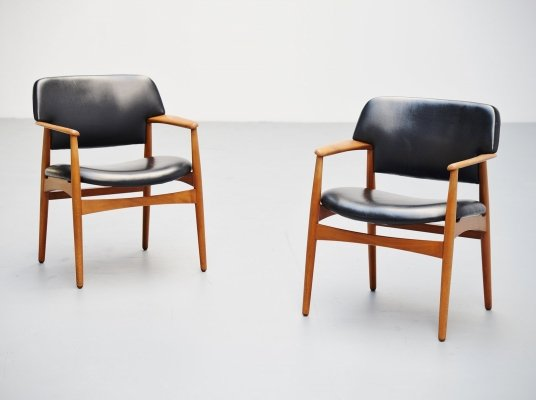 Ejnar Larsen & Aksel Bender Madsen chairs for Fritz Hansen, 1955