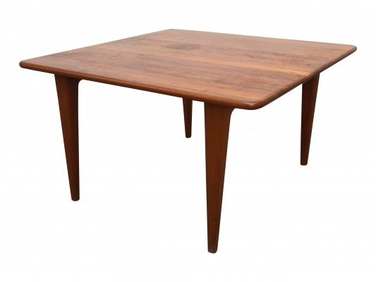 Solid Teak Square Coffee Table by A. Mikael Laursen, 1960s