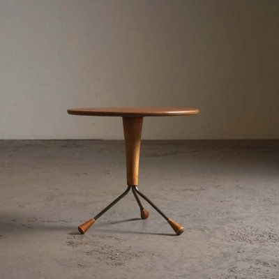 Tripod side table by Albert Larsson for Tibro, 1959