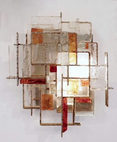 Brutalist Sconce by Albano Poli for Poliarte, 1970s