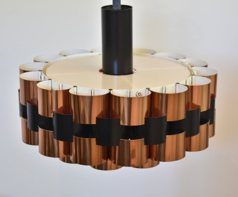 Danish vintage design hanging lamp by Werner Schou for Coronell Elektro, 70's
