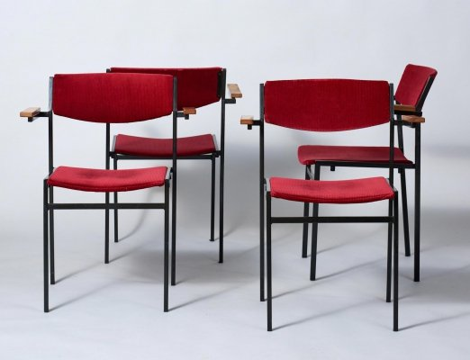Set of 4 Gijs van der Sluis Dining Chairs, 1960's