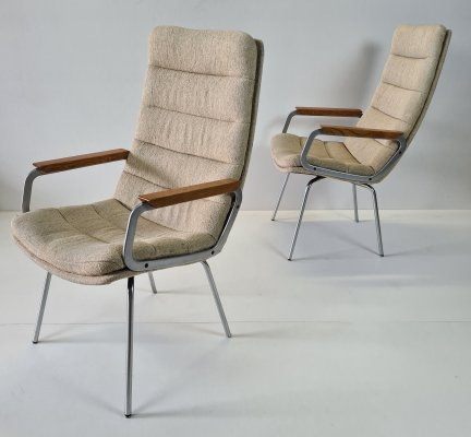 Set armchairs with high backrests by Geoffrey Harcourt for Artifort, 1970s