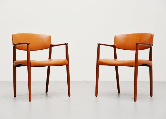 Arm chairs by Ejnar Larsen & Aksel Bender Madsen for Willy Beck, 1951