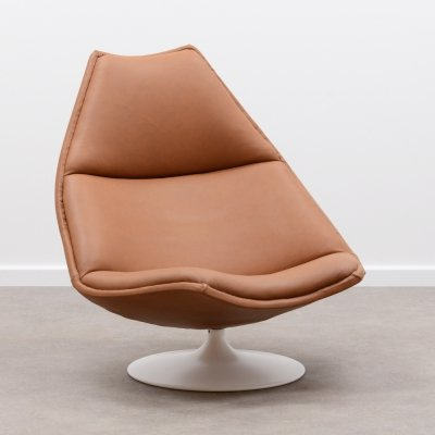 Leather F510 lounge chair by Geoffrey Harcourt for Artifort