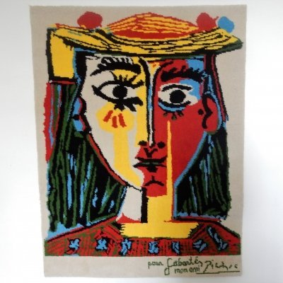 Pure wool Picasso tapestry by Desso, The Netherlands 1996
