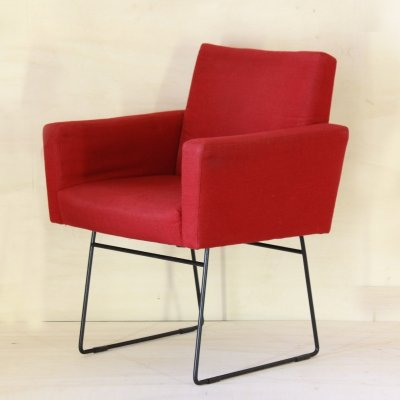 1970s red vintage armchair