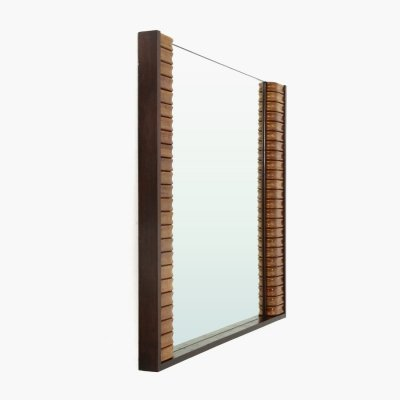 Mirror with wooden frame, 1950s