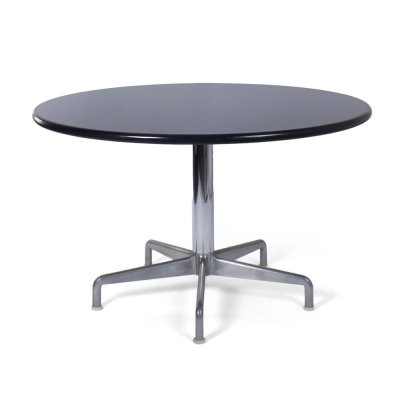 Round black dining table by Castelli, Italy 1980s