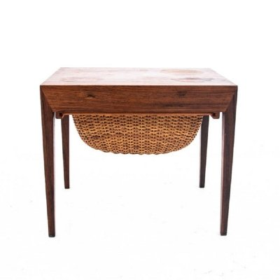 Rosewood thread table, Danish Design 1960s