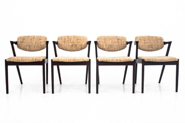 Set of 4 'model 42' Dining chairs by Kai Kristiansen, 1960s