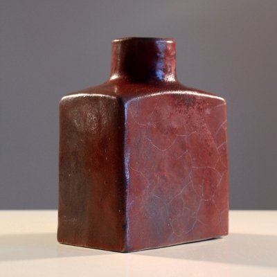Brutalist Oxblood Vase by Piet Knepper for Mobach Keramiek