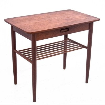 Teak side table with a drawer, Danish design 1960s