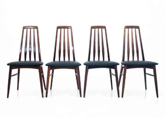 Set of 4 chairs by Niels Koefoed, Denmark 1960s