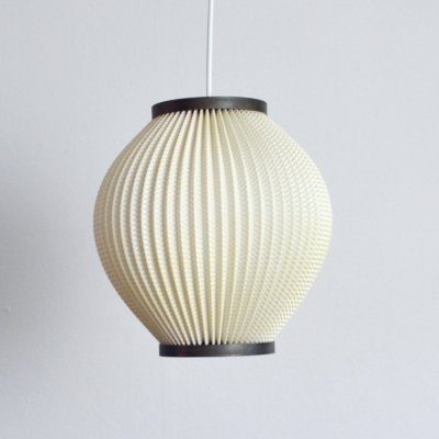 Danish Modern Pleated Pendant by Lars Ejler Schiøler for Hoyrup Light, 1960s