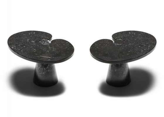 Mangiarotti black marble Side Table 'Eros series' for Skipper, 1970's
