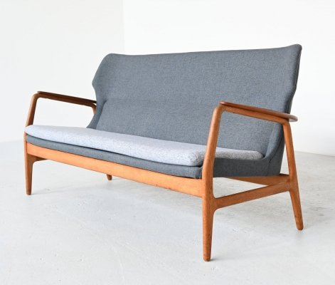 Aksel Bender Madsen Wingback lounge sofa by Bovenkamp, The Netherlands 1960
