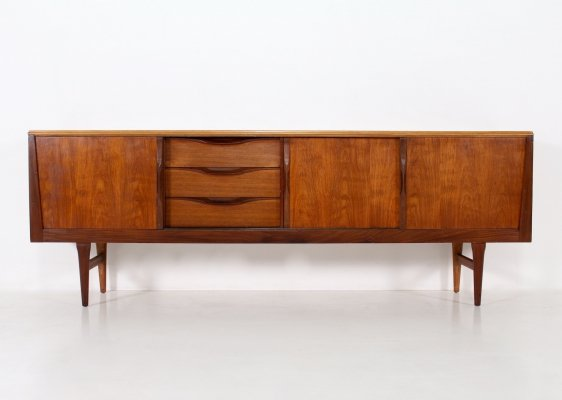 Teak Scandinavian style sideboard with sliding doors, 1960's