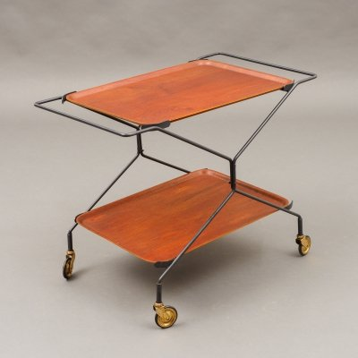 Mid Century foldable bar trolley, 1960s